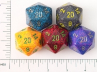 Dice : D20 OPAQUE ROUNDED SPECKLED JUMBO 2