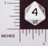 Dice : D8 OPAQUE ROUNDED SOLID FAMILY LEARNING D4 01