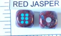 Dice : STONE D6 RED JASPER