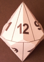 Dice : PAPER D12 MY DESIGN NUMBERED