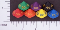 Dice : D10 OPAQUE ROUNDED SOLID CRYSTAL CASTE D%27OH 02