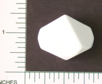 Dice : BLANK D10 OPAQUE ROUNDED SOLID 1