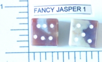 Dice : STONE D6 FANCY JASPER 1