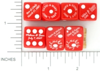 Dice : D6 OPAQUE ROUNDED SOLID GAMESTATION SPECIAL OCCASION 05