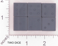 Dice : D6 OPAQUE SHARP SOLID ACE PRECISION PIPPED BLACK PVC 01