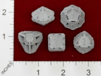 Dice : MINT22 SHAPEWAYS CERAMICWOMBAT DICE SET LARGE 03