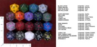 Dice : MINT50 CHESSEX D20 34MM RECOLOR