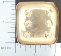 Dice : METAL BRASS D6 01
