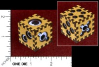 Dice : MINT47 PHILOLABS D6 GOOGLY EYES
