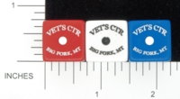 Dice : D6 OPAQUE ROUNDED SOLID GAMESTATION VETS CTR BIG FORK MT