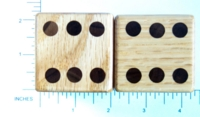 Dice : WOOD D6 OAK AND WALNUT