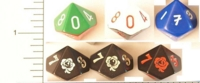 Dice : D10 OPAQUE ROUNDED SOLID 1