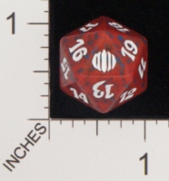 Dice : D20 OPAQUE ROUNDED SPECKLED MTG LIFE COUNTERS SHARDS OF ALARA 01
