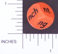 Dice : NON NUMBERED OPAQUE ROUNDED SOLID ORANGE 01
