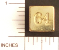Dice : METAL BRASS D6 09