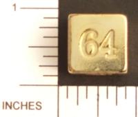 Dice : METAL BRASS D6 09