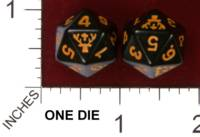 Dice : D20 OPAQUE ROUNDED SOLID JAGERMEISTER 01