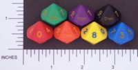 Dice : D10 OPAQUE ROUNDED SOLID CRYSTAL CASTE DOH 01