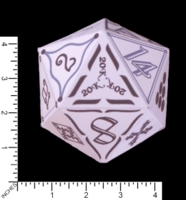 Dice : PAPER D20 MY DESIGN ICOSAHEDRON PROTOTYPE FOR 20000