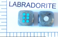 Dice : STONE D6 LABRADORITE
