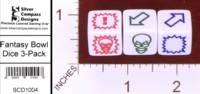Dice : MINT29 SILVER COMPASS DESIGNS BLOOD BOWL 01