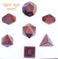 Dice : STONE MULTI CRYSTAL CASTE TIGER EYE 03