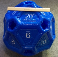 Dice : MINT24 CRYSTAL CASTE INFLATABLE D20 01