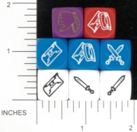 Dice : NON NUMBERED OPAQUE ROUNDED SOLID EM4 LUDUS GLADIATORIUS 01