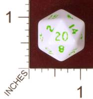 Dice : D20 OPAQUE ROUNDED SOLID CRYSTAL CASTE PROTOTYPE 01