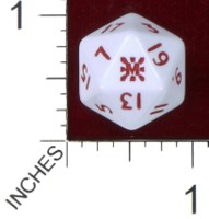 Dice : D20 OPAQUE ROUNDED SOLID PRODOS GAMES MUTANT CHRONICLES MISHIMA
