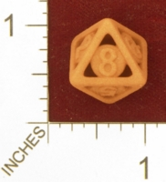 Dice : MINT27 SHAPEWAYS BARKS CAGE DICE D8 ARIAL FONT 01