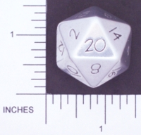 Dice : METAL ALUMINUM D20 01 CAVE BADGER 02 LARGER STAMPED