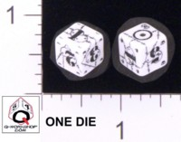Dice : NUMBERED OPAQUE ROUNDED SOLID Q WORKSHOP DOGTAG BATTLE BRITISH 01