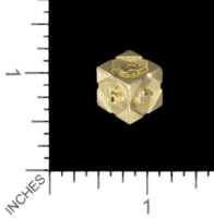 Dice : MINT56 TRAYSER METAL WORKS BRASS D6 OMEGA