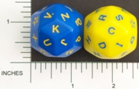 Dice : D30 OPAQUE ROUNDED SOLID LETTER