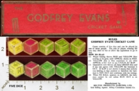 Dice : MINT26 BELTON PRODUCTS THE GODFREY EVANS CRICKET GAME 01