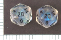 Dice : D20 TRANSLUCENT ROUNDED CHESSEX BOREALIS 2