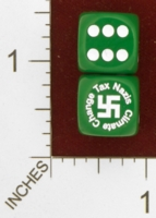 Dice : MINT26 CHESSEX CUSTOM FOR EBAY RACERSKA CLIMATE CHANGE TAX NAZI SWASTIKA 01