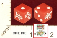 Dice : MINT21 PARKER BROTHERS MONOPOLY CHAMPIONSHIP 01