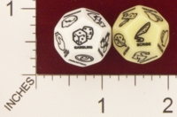 Dice : D12 OPAQUE ROUNDED SOLID CHESSEX FOR RPGSHOP D AND D SKILLS 01