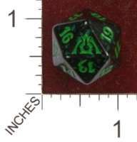 Dice : D20 OPAQUE ROUNDED SPECKLED MTG LIFE COUNTERS DRAGONS MAZE 04