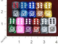 Dice : MINT37 CHESSEX DICE MANIACS CLUB LOGO OLD 03 IRIDESCENT