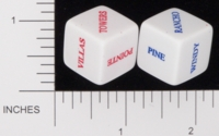 Dice : NON NUMBERED OPAQUE ROUNDED SOLID GAMESTATION CHATEAU LE BLANC
