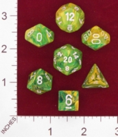Dice : MINT24 CHESSEX VORTEX DANDELION WITH WHITE 01