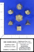 Dice : MINT55 DIE HARD DICE GOLD BATTLEWORN