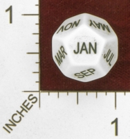 Dice : D12 OPAQUE ROUNDED SOLID  ERIC HARSHBARGER MONTHS DIE 01