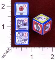 Dice : MINT30 PRINT AND PLAY PRODUCTIONS CHUNKY FIGHTERS ROBOT 01