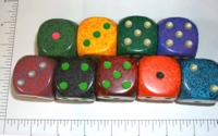Dice : LG PLASTIC2 04 SPECKLED