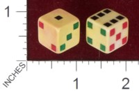 Dice : MINT40 UNKNOWN SQUARE PIPS