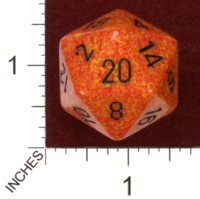 Dice : D20 OPAQUE ROUNDED SPECKLED CHESSEX FIRE JUMBO 01